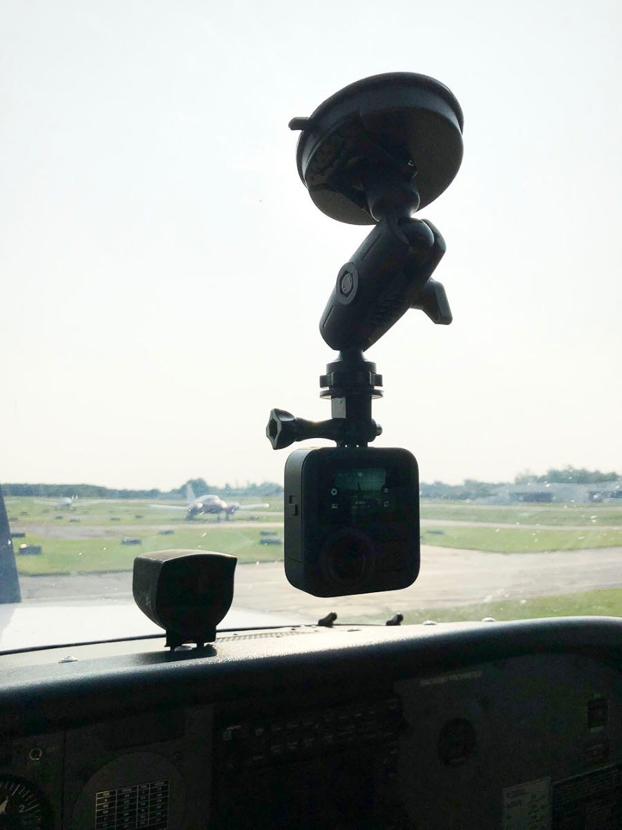 GoPro MAX in middle of windshield