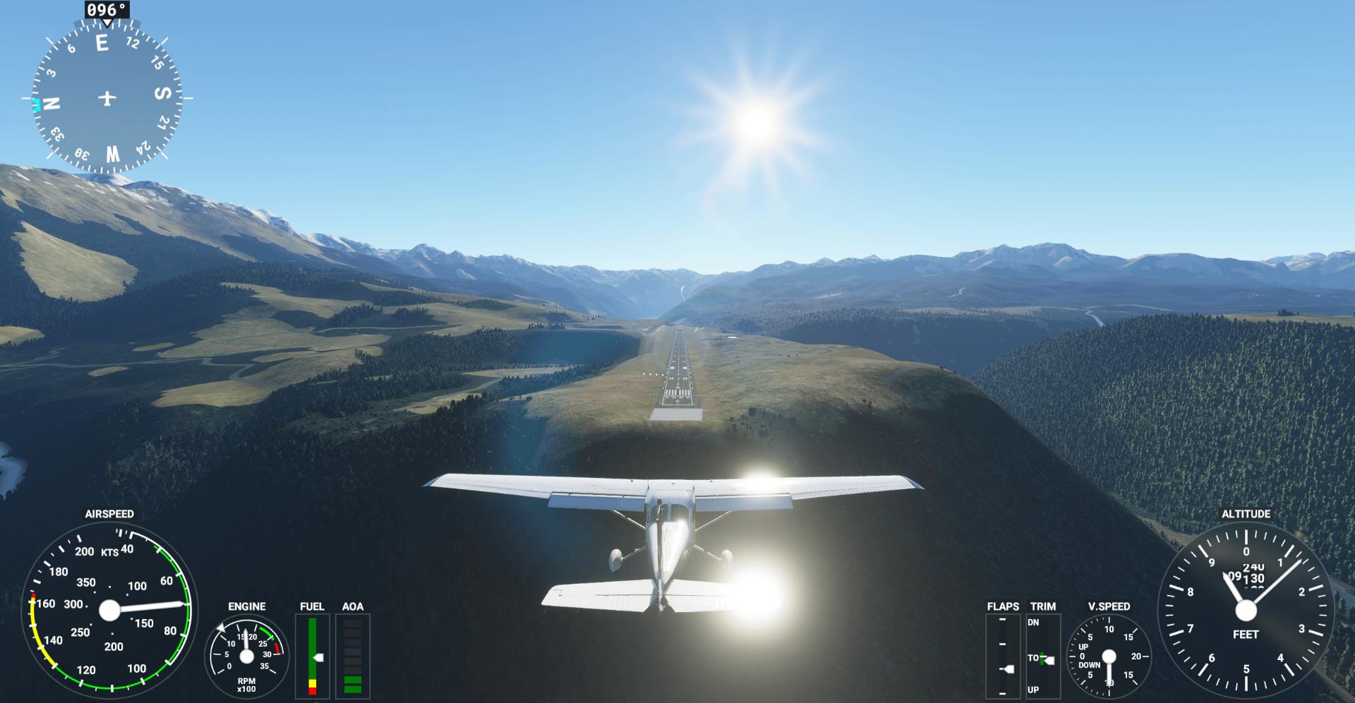 flight simulator heading image