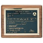 Commander Pilot's License Plaque