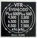 VFR Altitudes Placard (2 1/4 in. x 2 1/4 in.)
