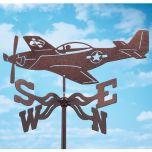P-51 Airplane Weathervane
