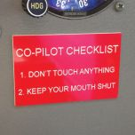 Co-Pilot Checklist Placard
