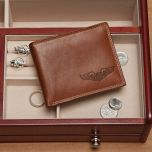 Pilot Wings Leather Wallet