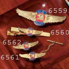 U.S. Pilot Wings Tie Tac (1.25 in)