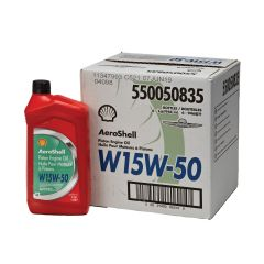 Aeroshell W15W50 Aviation Oil (case of 6)