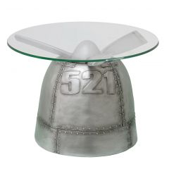 Warbird Table with Glass Top