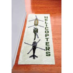 Helicopter Formation Premium Plush Hallway Runner