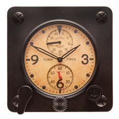 Flight Timer Wall Clock