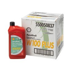 Aeroshell W-100 Plus Aviation Oil (case of 6)