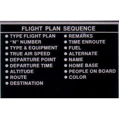 Flight Plan Placard (2 1/4 in. x 3 1/4 in.)