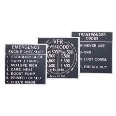 Emergency Engine Checklist  Placard (2 1/4 in. x 2 1/4 in.)