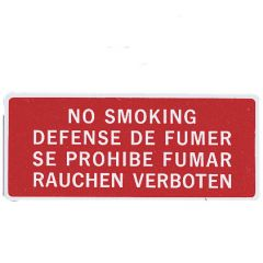 No Smoking Placard (1 1/2 in. x 3 5/8 in.)