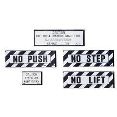 No Push Placard (3 1/4 in. x 1 in.)
