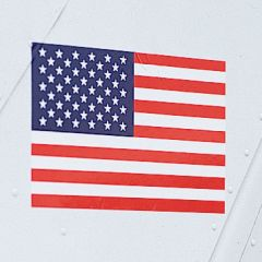 USA Flag Decal/Sticker (Pair)