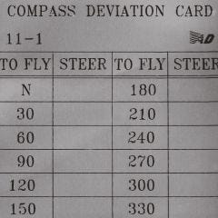 Compass Deviation Card (2 in. x 2 in.)