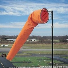 Airport Windsock (Solid Orange Color -  18 in. dia. x 8 ft.)