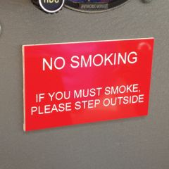 No Smoking Placard
