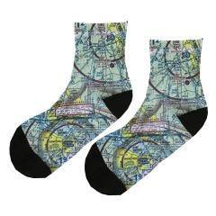 Custom U.S. Aeronautical Chart Socks