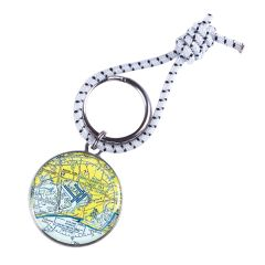 Custom U.S. Aeronautical Chart Key Ring
