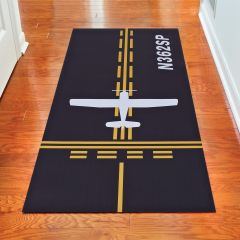Personalized Taxiway Hallway Runner Mat