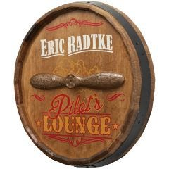 Personalized Pilot's Lounge Oak Quarter Barrel