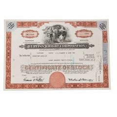 Curtiss-Wright Corporation Certificate of Stock