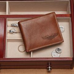 Pilot Wings Leather Wallet
