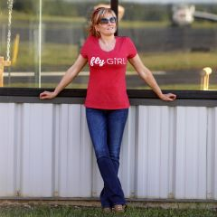 flyGIRL Tri-blend Women's V-Neck T-Shirt