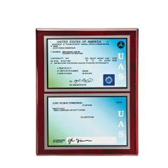 Dual Sided UAS License Plaque