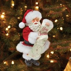 Santa with North Pole VOR Christmas Ornament