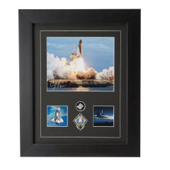 STS-135 Atlantis Framed Print Signed by Capt. Ferguson with Cargo Bay Liner