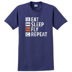 Eat, Sleep, Fly, Repeat T-Shirt