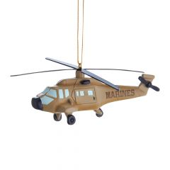 USMC Helicopter Christmas Ornament