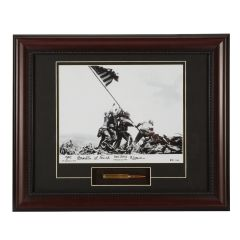 Limited Edition Iwo Jima Framed Print Signed by Mahlon Fink