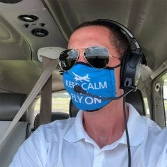 Keep Calm and Fly On Mask