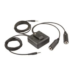 General Aviation (twin plugs) to PC Headset Adapter