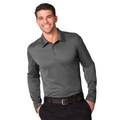 Streamlined Long Sleeve Polo Shirt