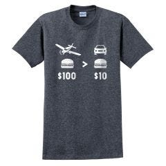 $100 Hamburger T-Shirt (Dark Heather)