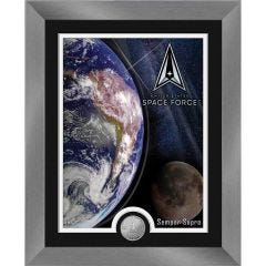 United States Space Force Framed Print with Mint Coin