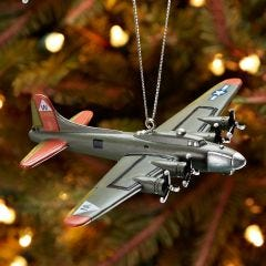 B-17 Bomber Christmas Ornament