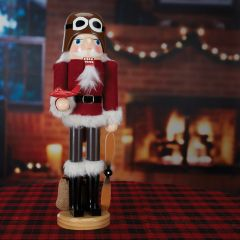 "14"" Fly Boy Santa Nutcracker"
