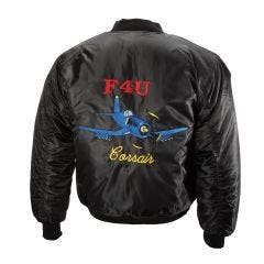Embroidered F4U Corsair MA-1 Flight Jacket