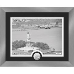 """B-17G """"Statue of Liberty Fly Over"""" Framed Print with Mint Coin"""