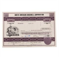 North American Rockwell Corporation Certificate of Stock