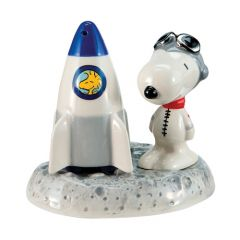 Astronaut Snoopy Ceramic Salt and Pepper Set