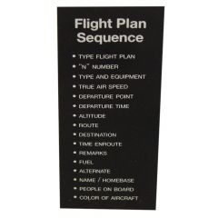 Flight Plan Sequence Placard