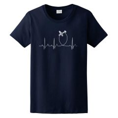 Women's Aviation Heartbeat T-Shirt
