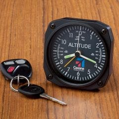 Cessna Logo Altimeter Desk Clock