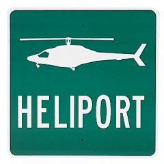 Heliport Sign