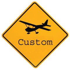 Custom Airport Signs (Yellow - 24 in. x 24 in.)